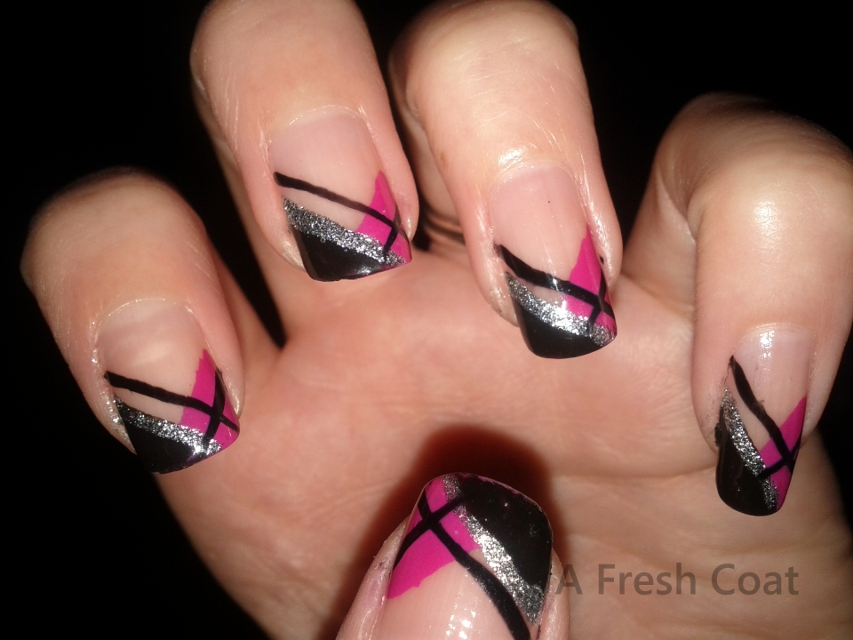 Criss-Cross French Tip