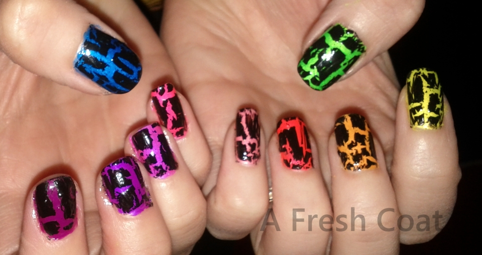 Rainbow Neon Crackle