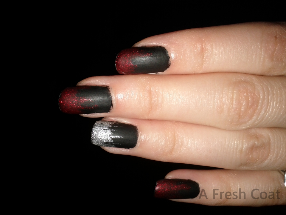 Liquid Bloody Metal Nails