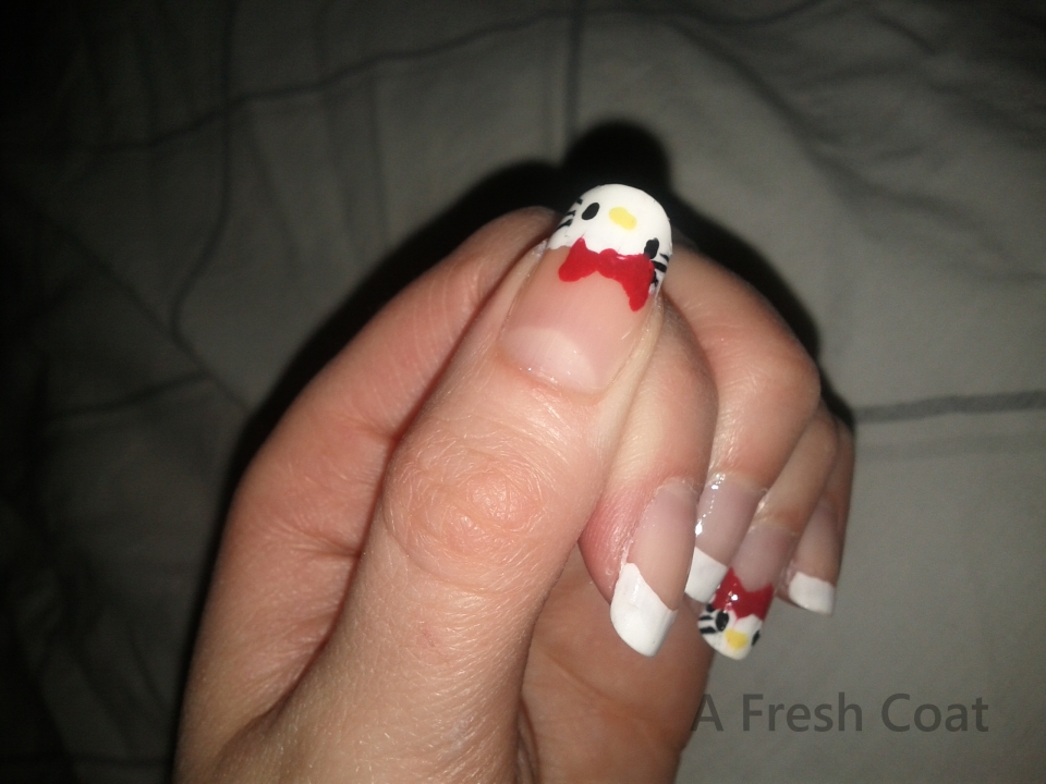Hello Kitty French Mani