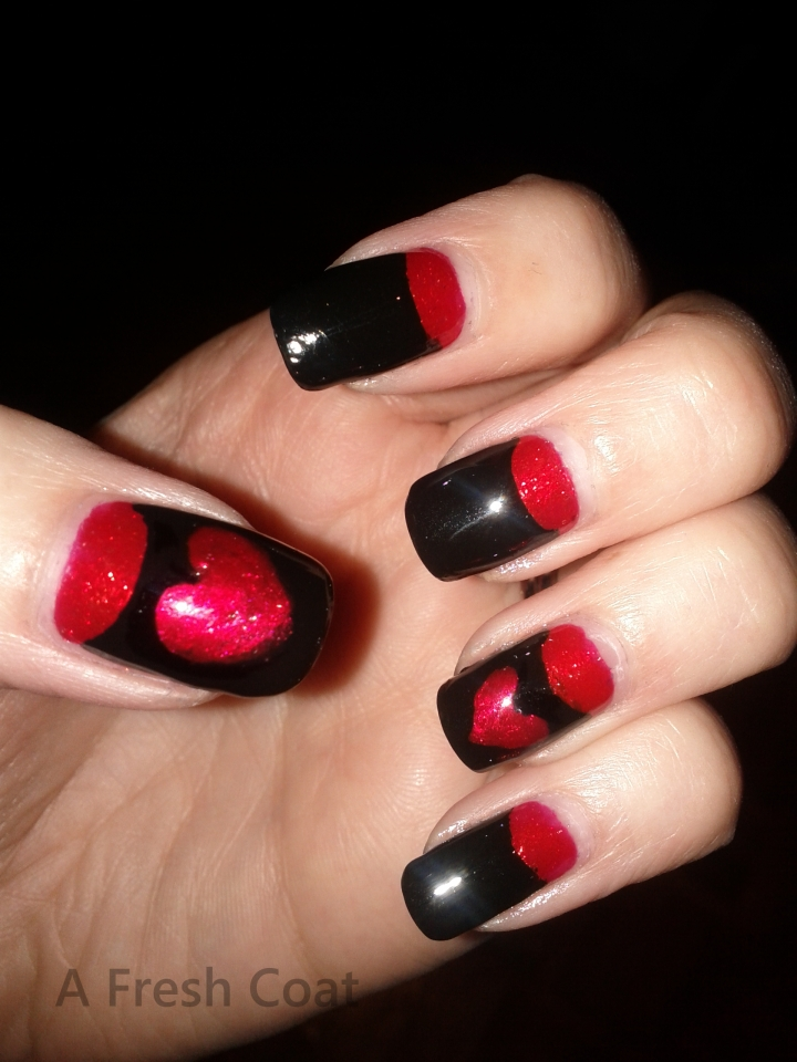 Elegant Valentine's Evening Nails 2