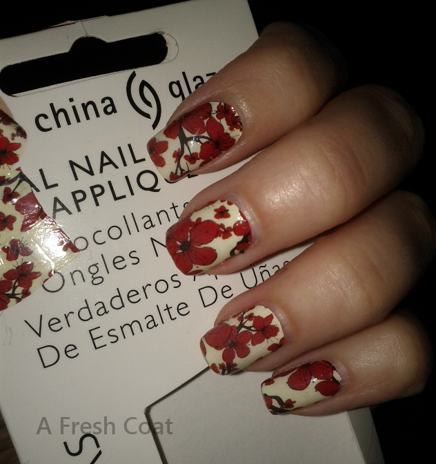 China Glaze Appliques Cherry Blossoms