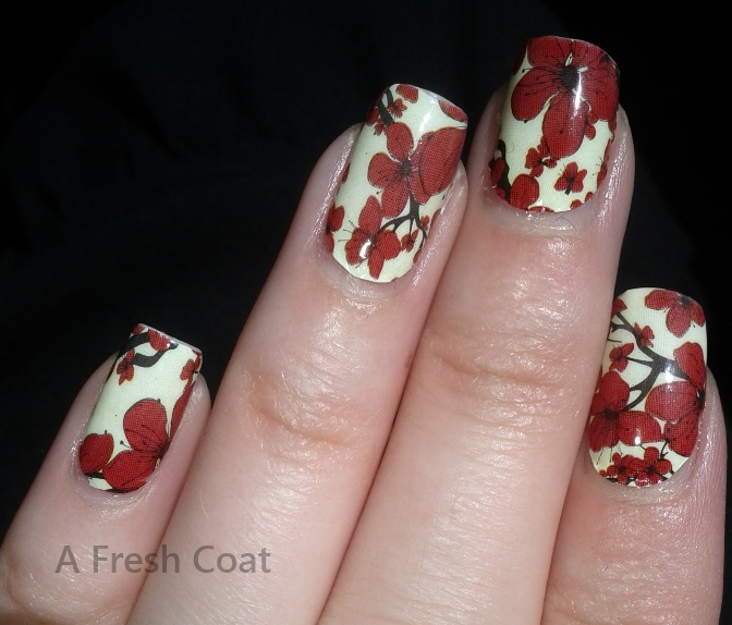 China Glaze Appliques Cherry Blossom close up