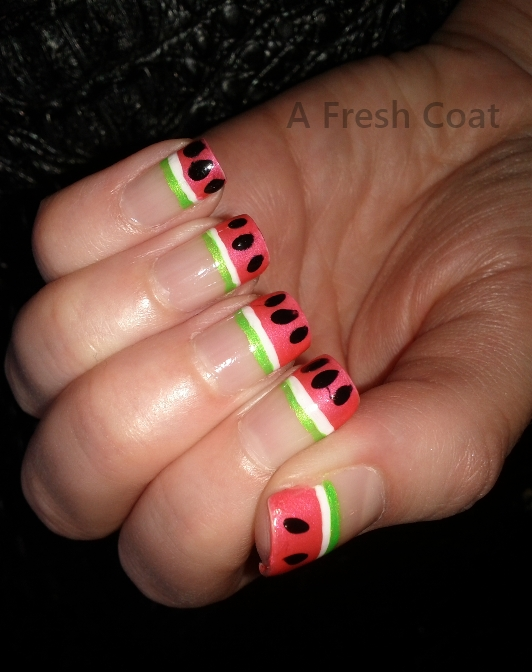 Watermelon French Tips 2