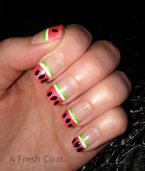 Watermelon French Tips